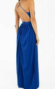 TOBI X Open Back Backless Maxi Gown Prom